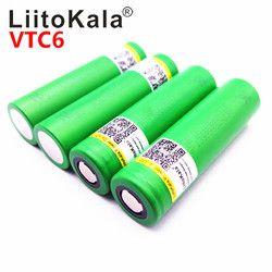 Горячая Liitokala VTC6 3,7 V 3000 mAh литий-ионная аккумуляторная батарея 18650 US18650VTC6 30A электронные сигареты игрушечные инструменты flashligh