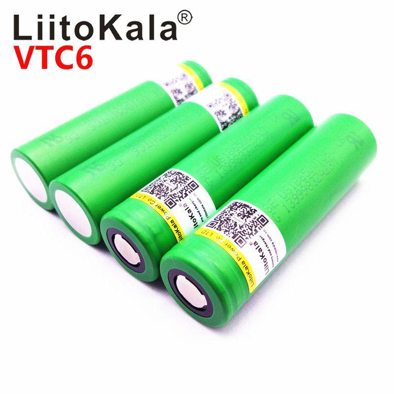 Heißer Liitokala VTC6 3,7 V 3000 mAh lithium-ionen-akku 18650 US18650VTC6 30A Elektronische zigarette spielzeug werkzeuge flashligh