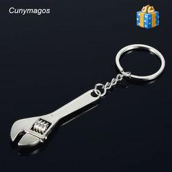Mobil Gantungan Kunci Berguna Spanner Keychain Mode Zinc Alloy Diganti Alat Kunci Rantai Gantungan kunci Perak Kreatif Keyfob 2018 Baru