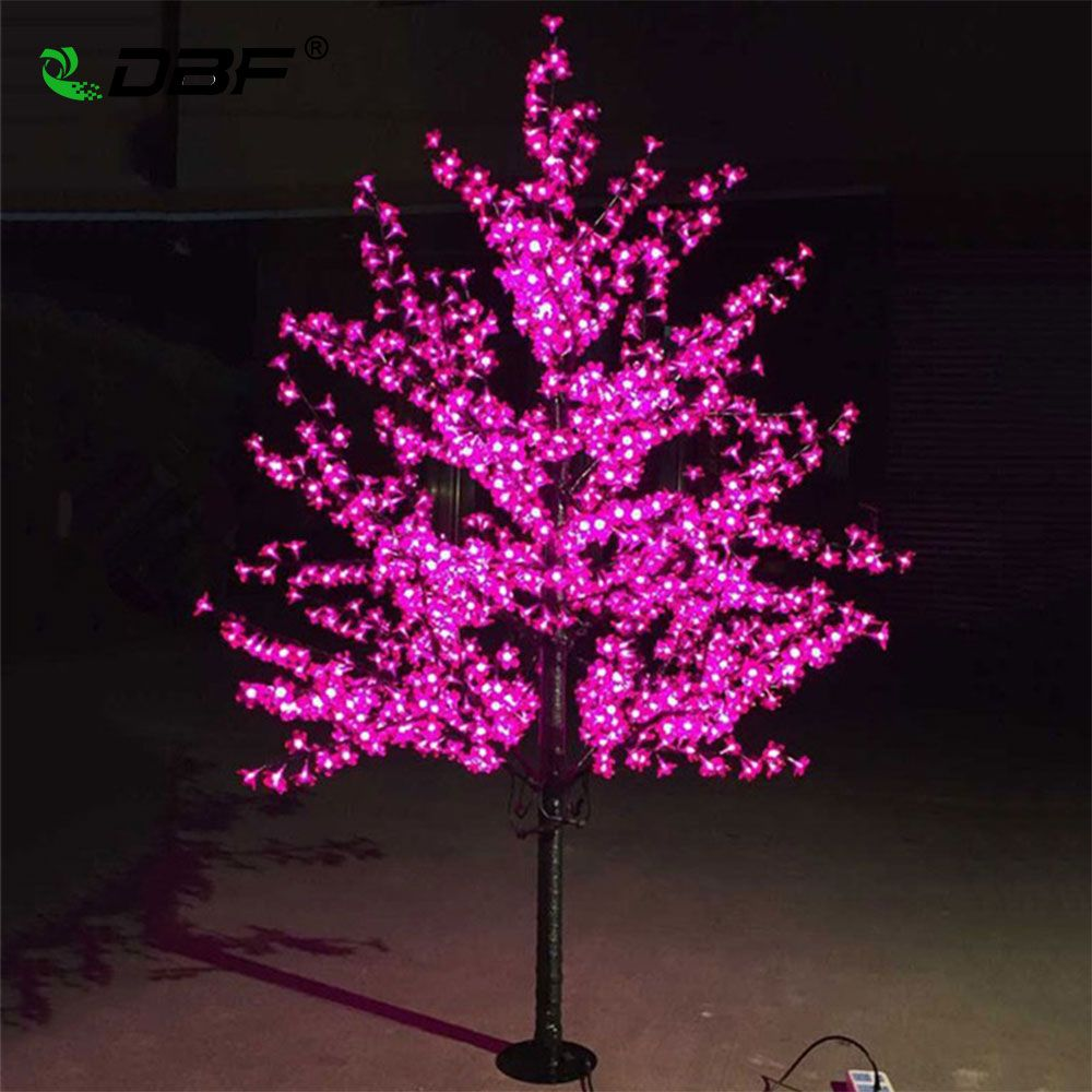 Luxury Handmade Artificial LED Cherry Blossom Tree night Light Christmas new year wedding Decoration Lights 1.8m tree light led