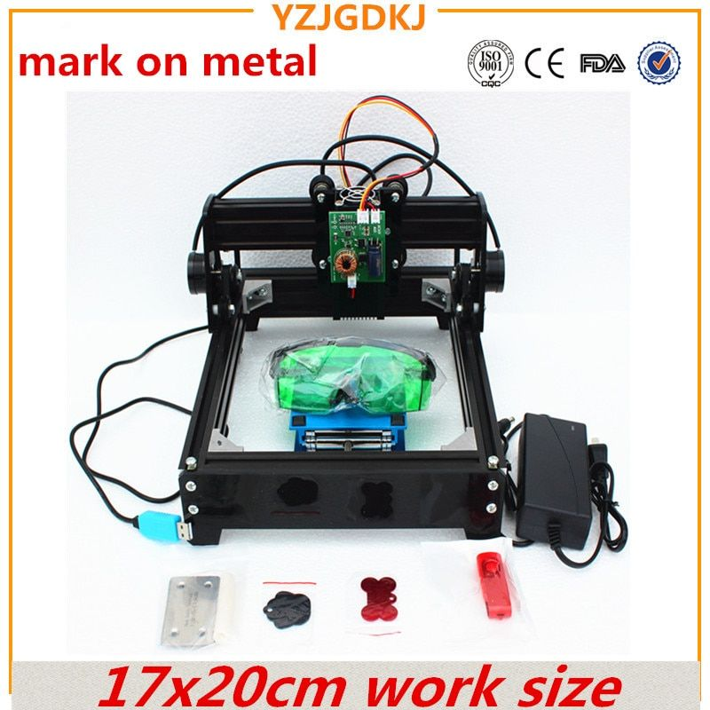 15w diy laser engraving machine 14*20cm metal engraver laser marking machine laser cutting mark on dog tag 15w 12w 10w optional