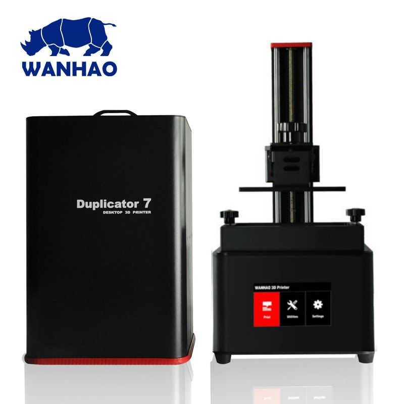 2018 Newest Wanhao D7 PLUS DLP SLA LCD Resin 3D Printer Jewelry Dental 3D Printer Machine Wanhao Duplicator 7 PLUS Free Shipping