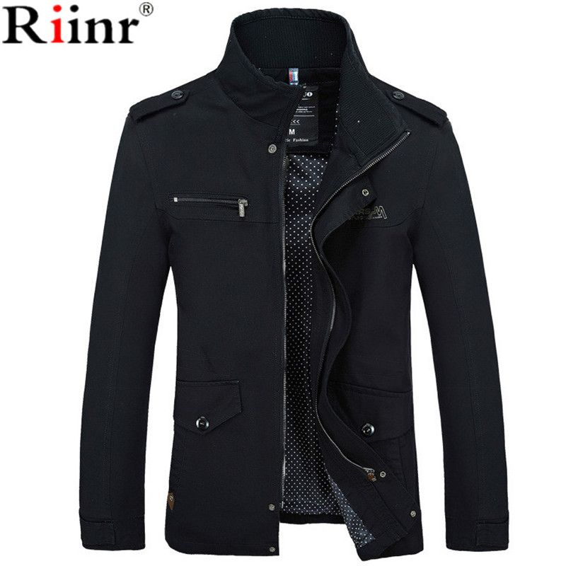 Riinr 2017 Brand New Arrival Male Jacket Slim Fit High Quality Mens Autumn Clothing Man Jackets Zipper <font><b>Warm</b></font> Cotton-Padded