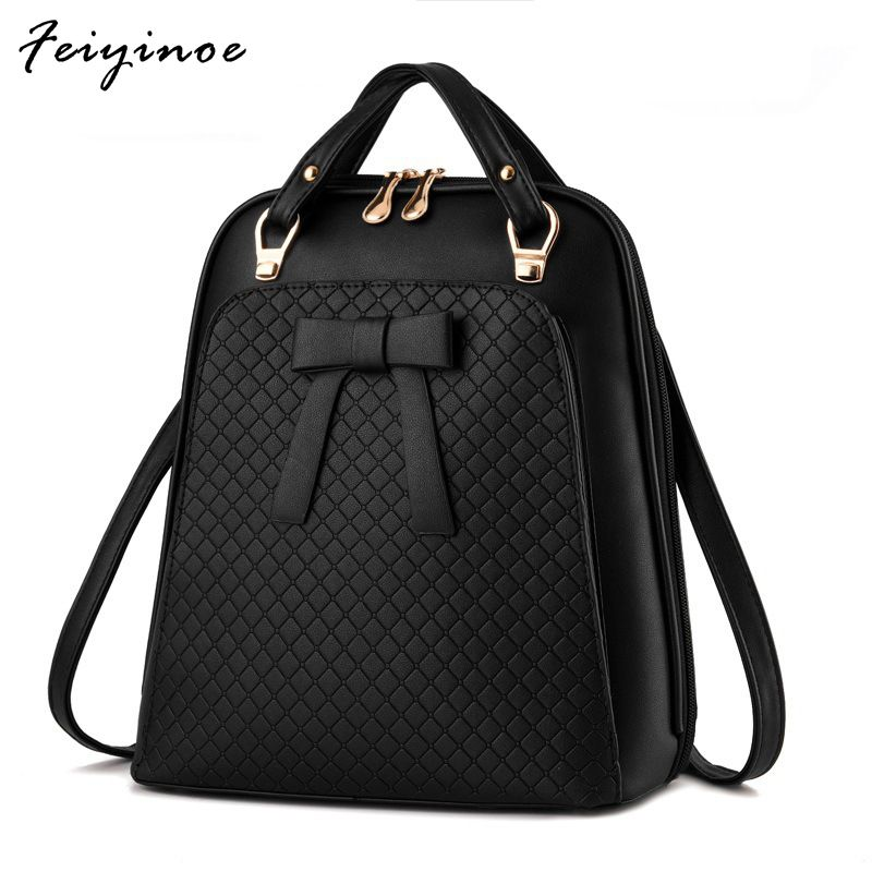 Ladies backpack shoulder bag Korean version of the influx of women bag school PU leather backpack