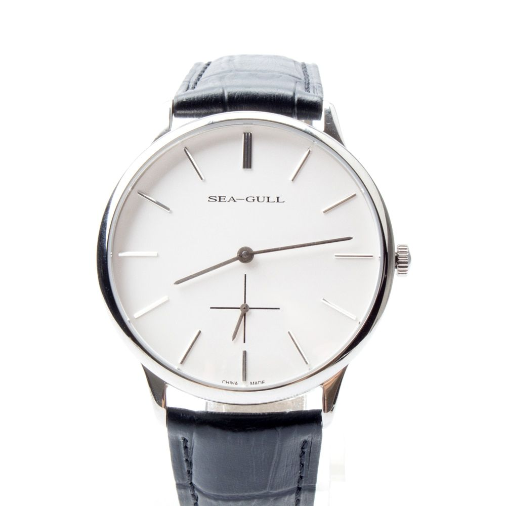 Ultra Thin 8mm PVD with stainless steel 3 Hands Seagull Hand Wind Mechanical Men's Watch D819.612