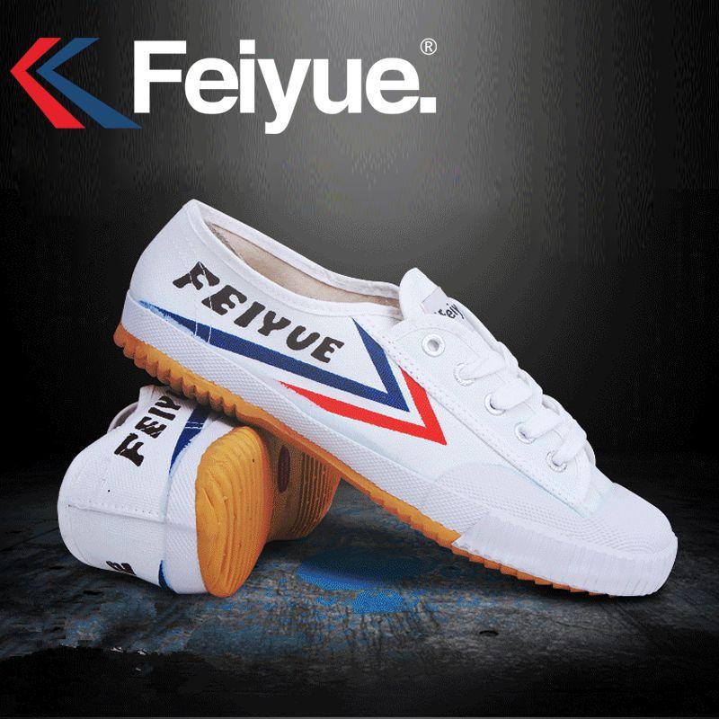 D'origine Baskets Feiyue Classique Chaussures arts Martiaux Taichi Taekwondo Wushu Kungfu Doux confortable Sneakers hommes femmes chaussures