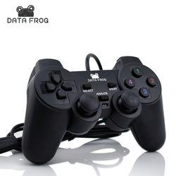 Vibration Joystick Filaire USB PC Contrôleur Pour PC Ordinateur Portable Pour WinXP/Win7/Win8/Win10 Pour Vista noir Gamepad