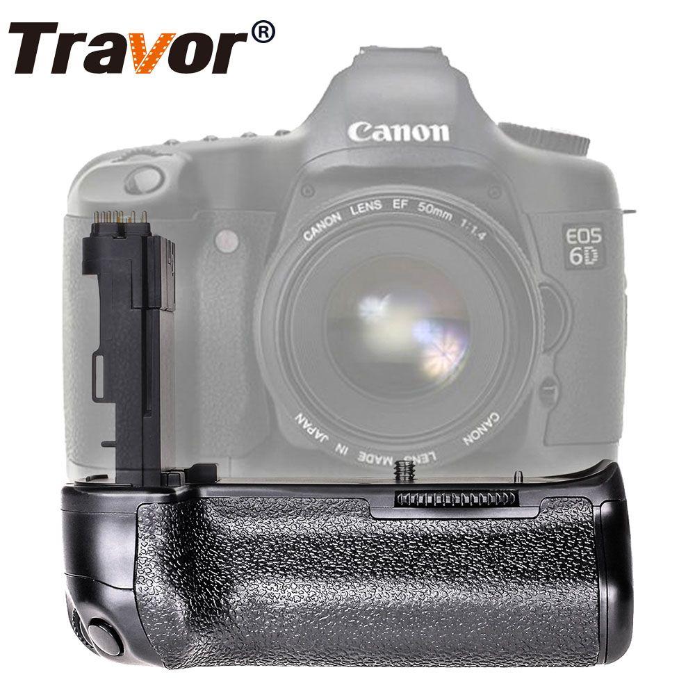 Travor caméra batterie support de prise en main pour Canon EOS 6D DSLR remplacer BG-E13 batterie poignée travail avec batterie de LP-E6