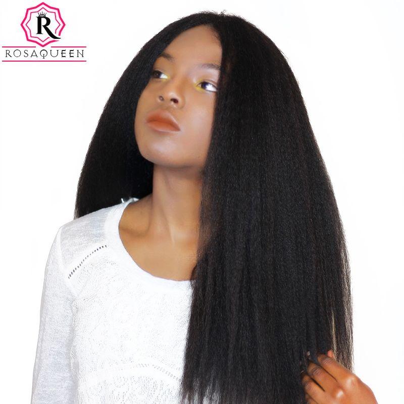 Kinky Straight Hair Brazilian Hair Weave Bundles Coarse Yaki 100% Human Hair Bundles Rosa Queen Hair Products Remy Extensions