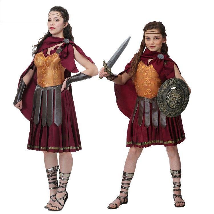 Irek Hot Halloween costume party cosplay costume women girl Medieval Gladiator Warrior Costume
