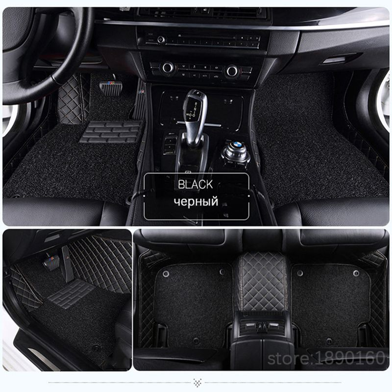 Custom car floor mats for Citroen All Models c4 c5 c2 c3 drain BLACK/GRAY/RED/BLUE car accessories car styling floor mat