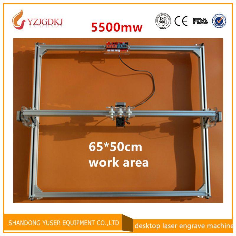 Benbox 405nm 5500mw Mini desktop DIY Laser engraving engraver cutting machine Laser Etcher CNC print image of 50 X 65 cm logo