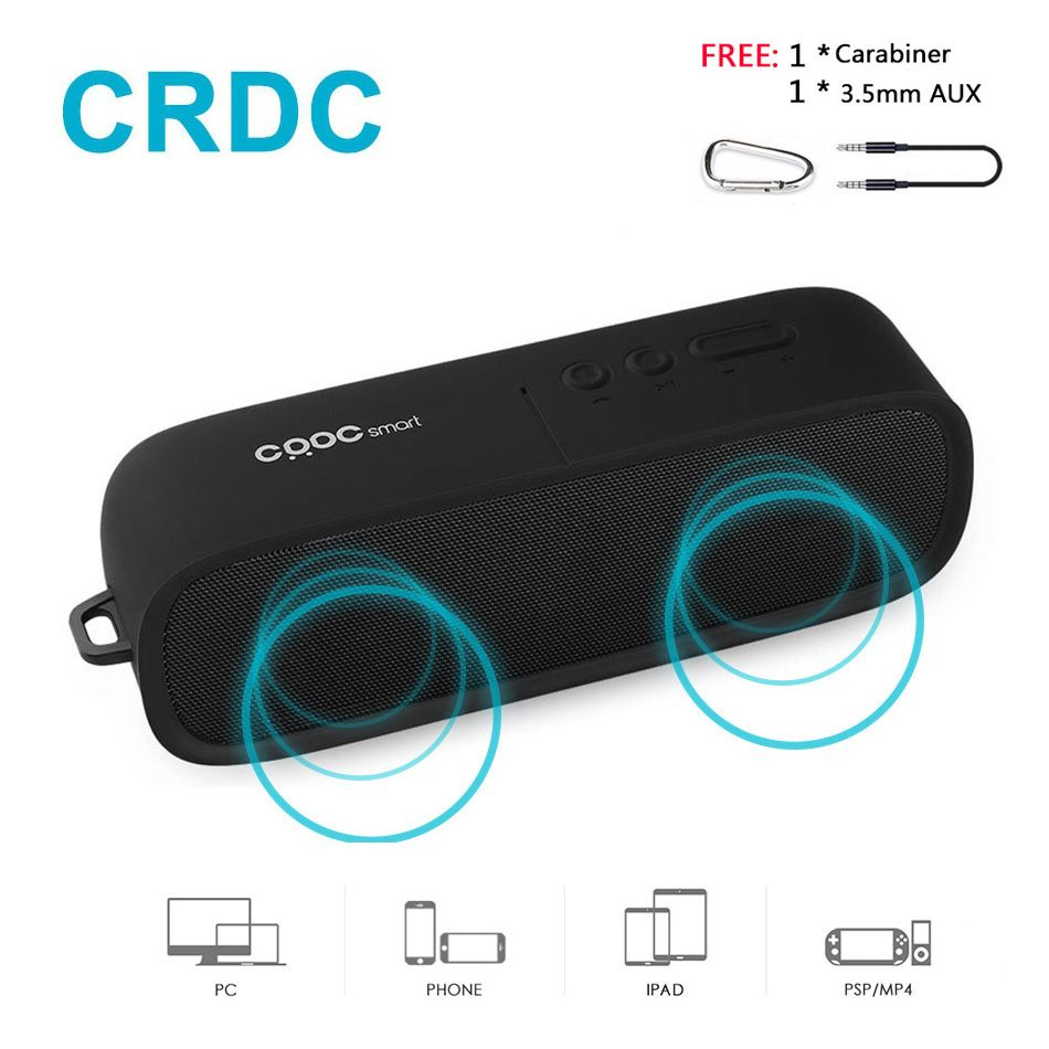 CRDC Bluetooth Speaker Wireless Stereo <font><b>Loudspeaker</b></font> Portable Column MP3 Speakers HandFree with HD Mic for iPhone Samsung Xiaomi