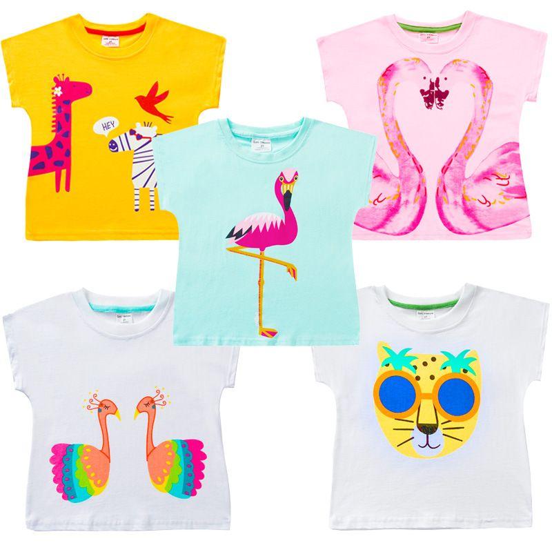 VIDMID 2-10 ans bébé fille t-shirt grandes filles t-shirts pour enfants fille blouse vente t-shirt 100% coton enfants vêtements d'été