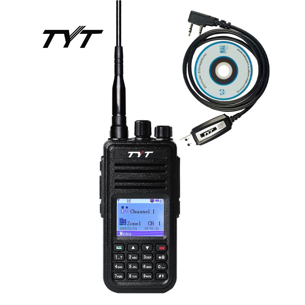 DMR Digital Mobile Radio TYT MD-380 Tytera Walkie Talkie 1000 Channel Professional Two Way Radio UHF 400-480MHz