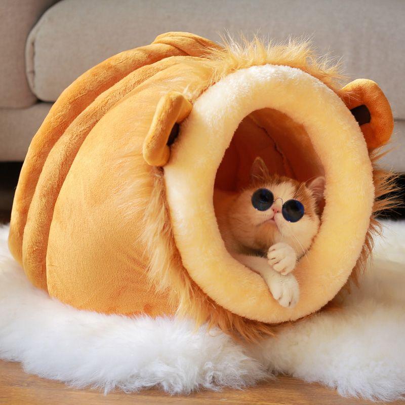 Suministros de productos para mascotas perro de la casa de lujo de dormir bolsa de gatos y perros pequeños cama tela del producto de alta calidad para el invierno