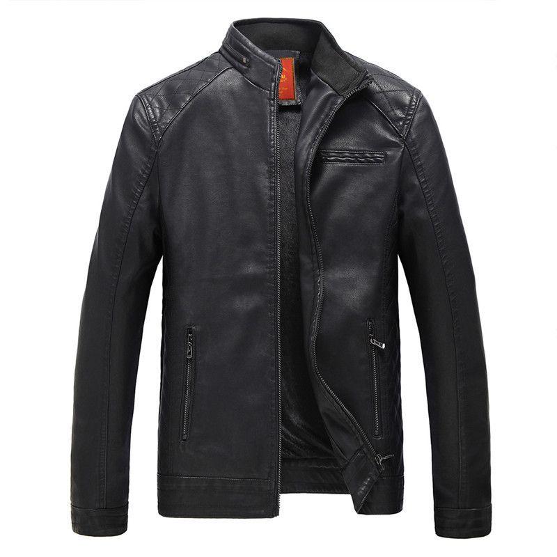 2018 hot mode hommes veste en cuir de moto vêtements en cuir veste manteau coupe-vent Livraison Gratuite