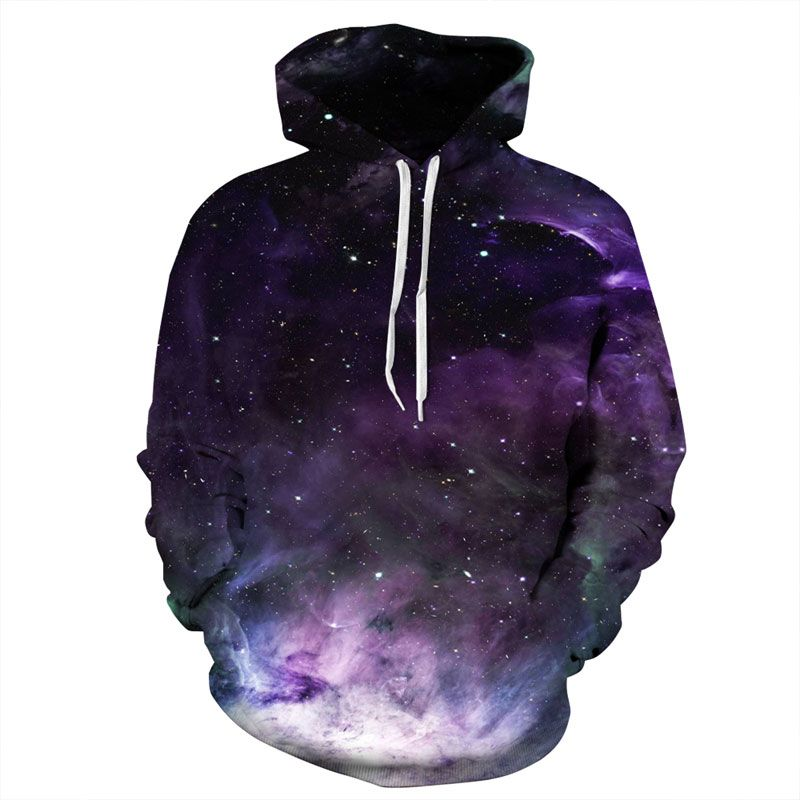 Mr.1991INC Space Galaxy Hoodies Men/Women 3d Sweatshirts Print Purple Nebula <font><b>Clouds</b></font> Thin Autumn Winter Hooded Hoodies
