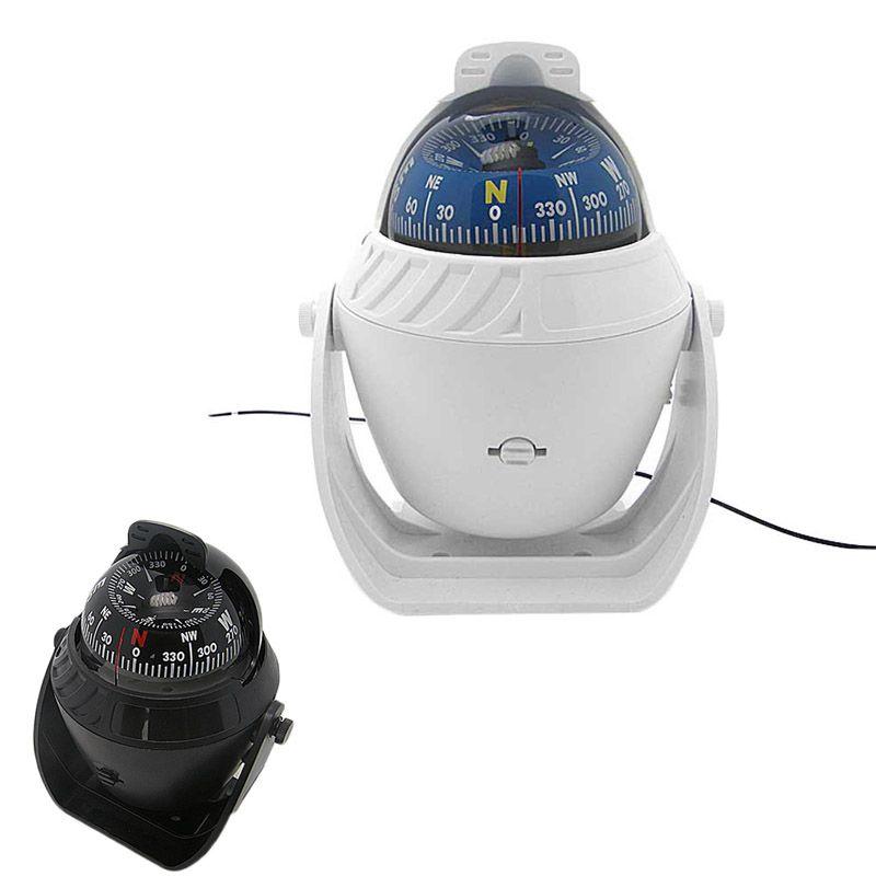 New ABS LED Light Electronic Vehicle Car Navigation Sea Marine Boat Ship Digital Compass B2Cshop
