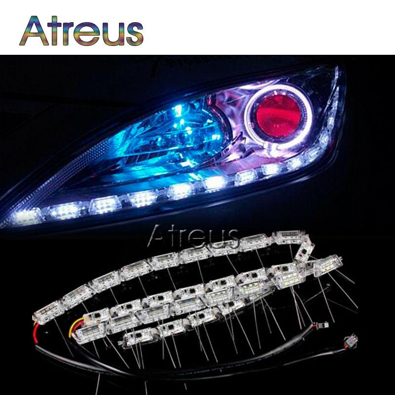 Atreus Car LED DRL lights For Mercedes W203 W211 W204 Porsche 911 Cayenne Lexus RX Infiniti BMW e39 vw polo audi a3 accessories