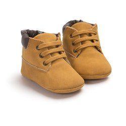 Bebé recién nacido Niños clásico guapo Primeros pasos Zapatos Babe Infant Toddler Soft soled Botas 5 Selección de color