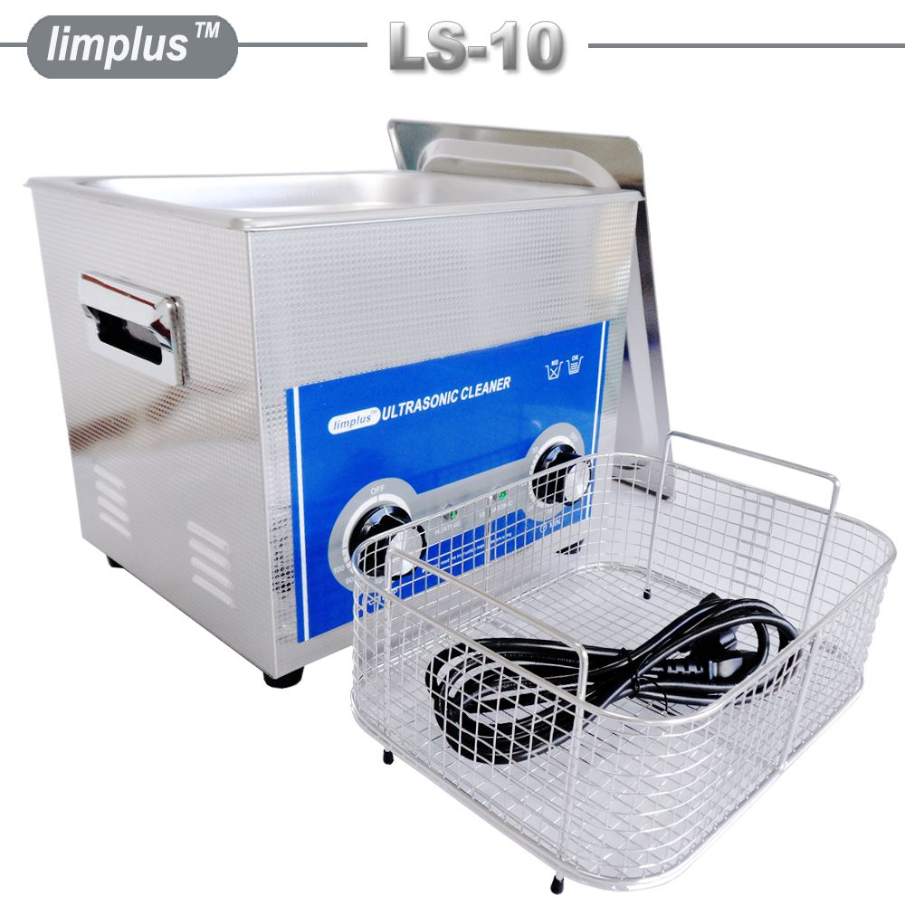 Limplus 10L Ultrasonic Cleaner Bath Removal of Dirt From Motorcycle Radiators Vehicle Differentials Removal of Metal Swarf