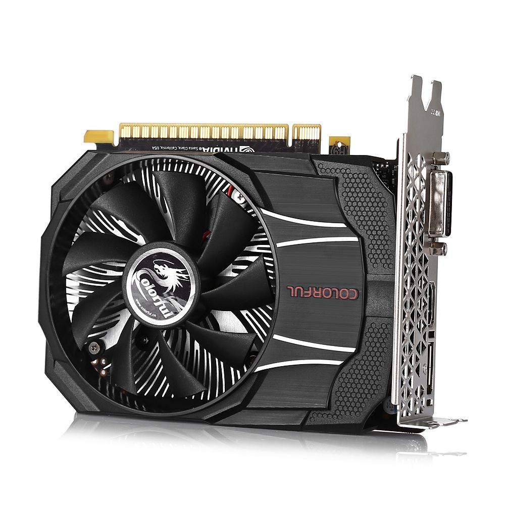 Original Colorful GTX1050 Mini OC 2GB Gaming Graphics Card 7000MHz 128bit GDDR5 14nm With Cooler Fan Display Port DVI HDMI