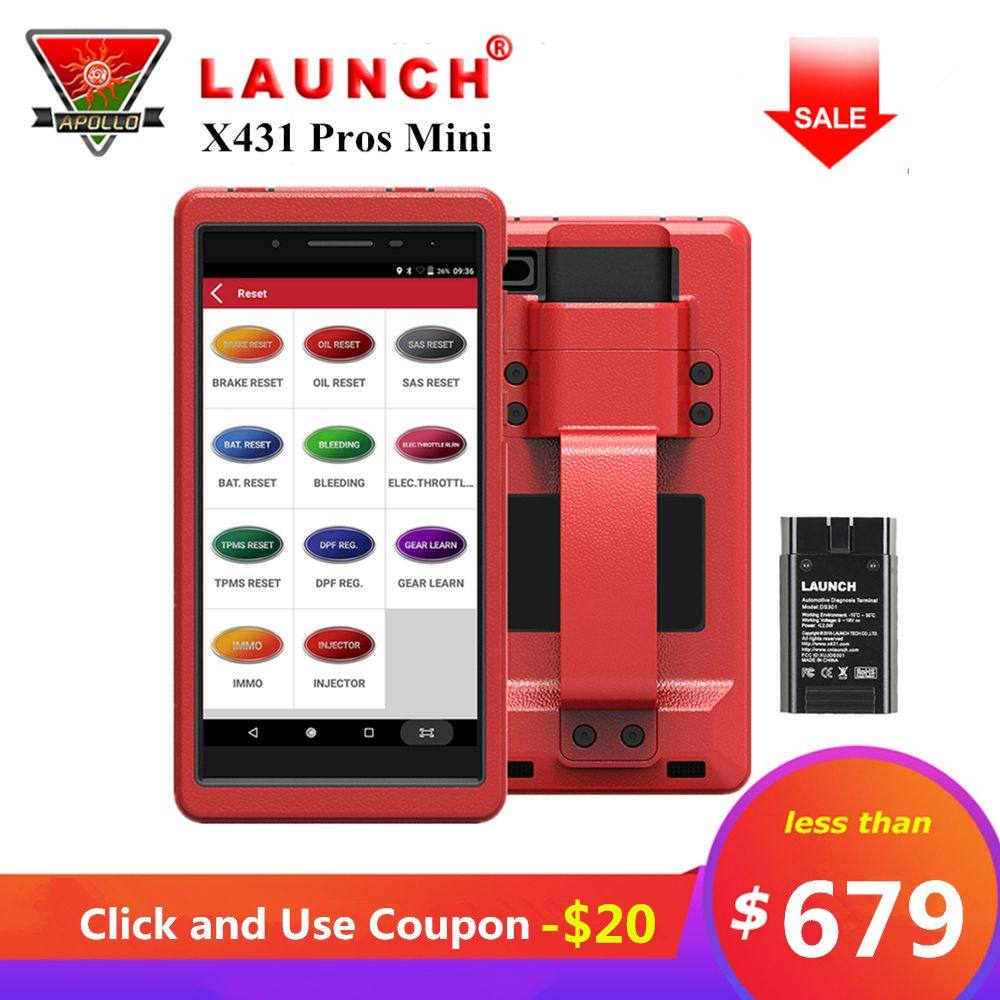 LAUNCH X431 Pros Mini Auto Diagnostic Tool X431 Pro mini Full System OBD2 Car Scanner ECU Coding 2 Years Free Update pk X431 V