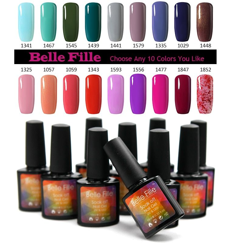 Belle FILLE Цвет Гели для ногтей uv гель Лаки для ногтей Vernis бежевый Обнаженная выдерживает-Гель-лак любой 10 цветов из цельного комплект 237 Цвет