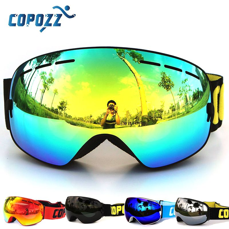 Copozz Polarized ski goggles double lens UV400 anti-fog glasses gafas skiing men women snowboard Cycling Hiking goggles glasses