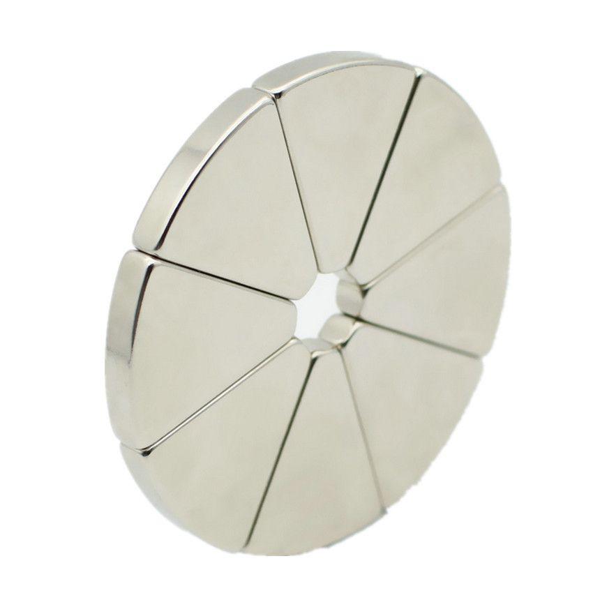 N42 NdFeB Arc Segment Magnet Diameter 60mm OD60xID10x45DEGx5mm for Generators Wind Turbine Neodymium Rotor Magnetics DIY Craft