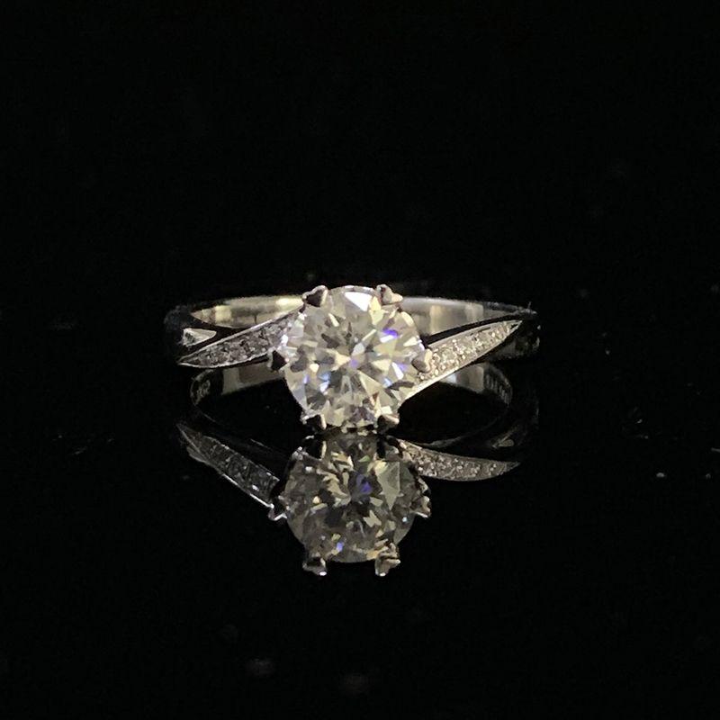 9K Weiß Gold 1ct 2ct 3ct Runde Cut Luxus Einzelne zeile bohrer Moissanite Ring Diamant ring schmuck Hochzeit Party jahrestag Ring