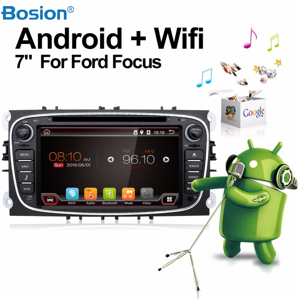 Double Din Car Stereo Radio Android 7.1 Car Dvd Player  for Ford Mondeo Focus Built in GPS CAMERA PARKING +Wifi+Bluetooth+USB+SD
