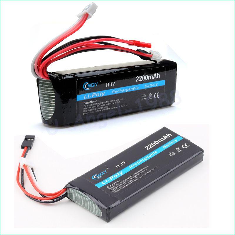 1 pièces BQY puissance Lipo batterie 3 S 11.1 V 2200 mAh 8C 3 tailles minces épaisses Performance de Lipo batterie pour JR Futaba BEC pour jouet RC