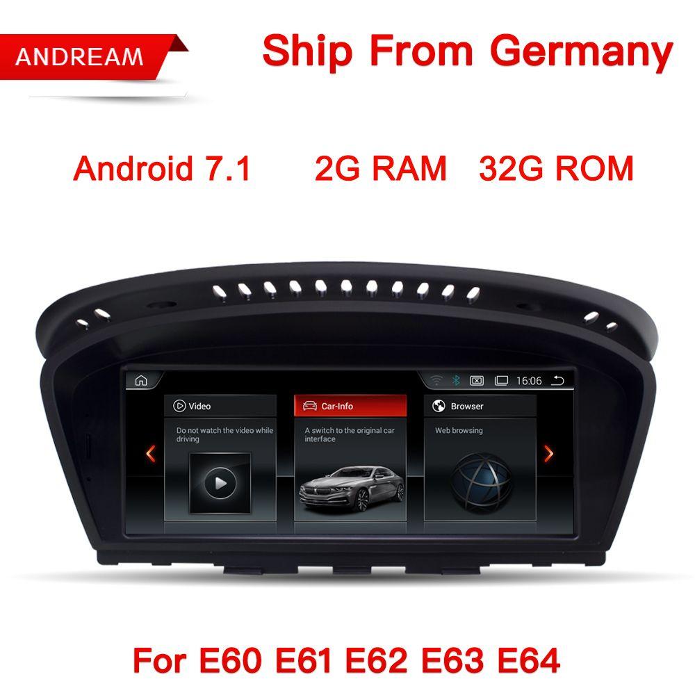 Android 7.1 GPS Navigation 8,8 Screen Multimedia Player Für BMW Serie 5 E60 E61 E62 E63 Bluetooth EW963B