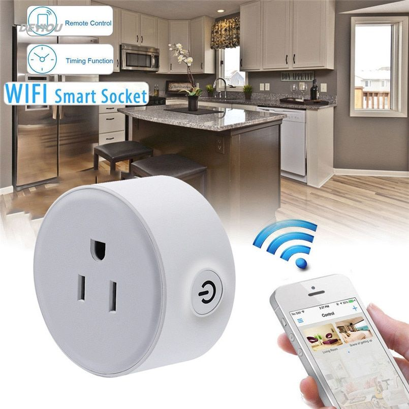 2200W Wireless US WiFi Phone Remote Control Repeater Smart AC Plug Outlet Power Switch Socket Status <font><b>Tracking</b></font> Practical DEYIOU