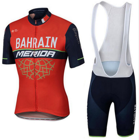 2017 New Summer Short Sleeve Cycling Jersey Quick Dry Team Bahrain/Lampre MERIDA Ropa Ciclismo Quick Dry Clothing Bike Clothes