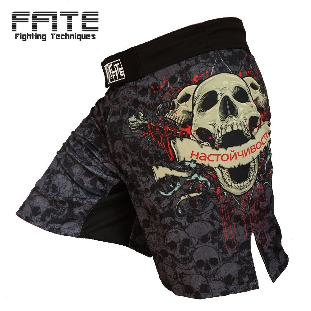 FFITE boxing sports fitness training trunks short Skull sanda boxing shorts muaythai shorts grappling mma shorts men pants sport