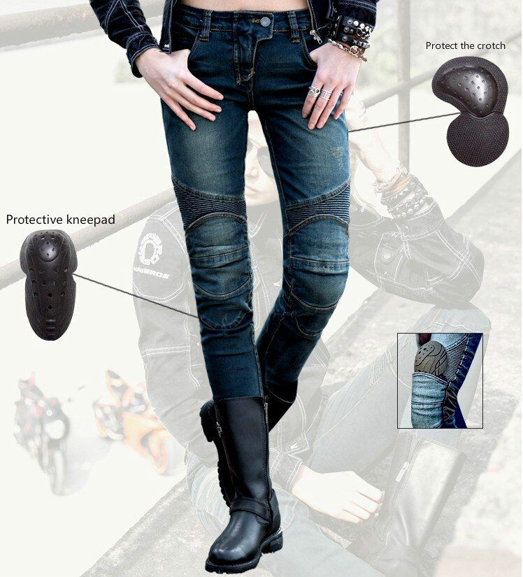 Free Shipping uglyBROS Featherbed-UBS02 Motorcycle Women's Jeans Road Ride Jeans Racing Pants