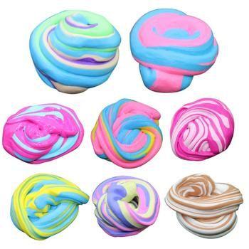 Slime jouets anti-stress jouets plastice argile 60 ml Moelleux Mousse Mastic Slime Stress Relief Magie Multicolore Boue Boues Boue De Coton jouet