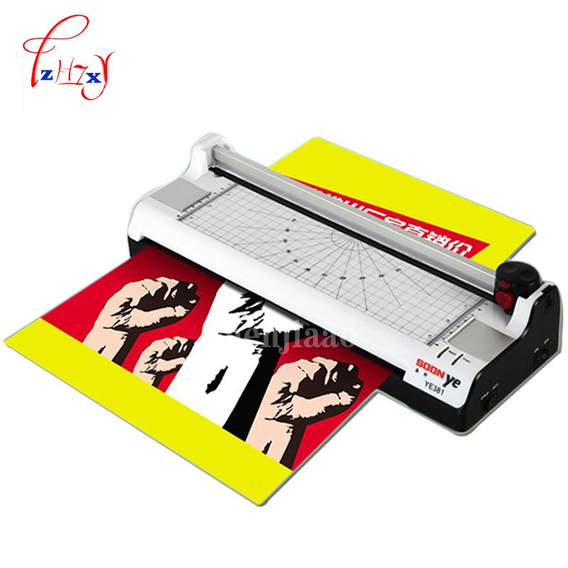 Smart photo laminator A3 laminating machine laminator sealed plastic machine hot and cold laminator width 330mm YE381