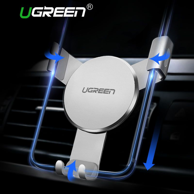 Ugreen Car Holder for iPhone 8 X 6 Gravity Reaction Air Vent Mount Phone Holder Cell Phone Holder Stand for Samsung S9 S8 Xiaomi
