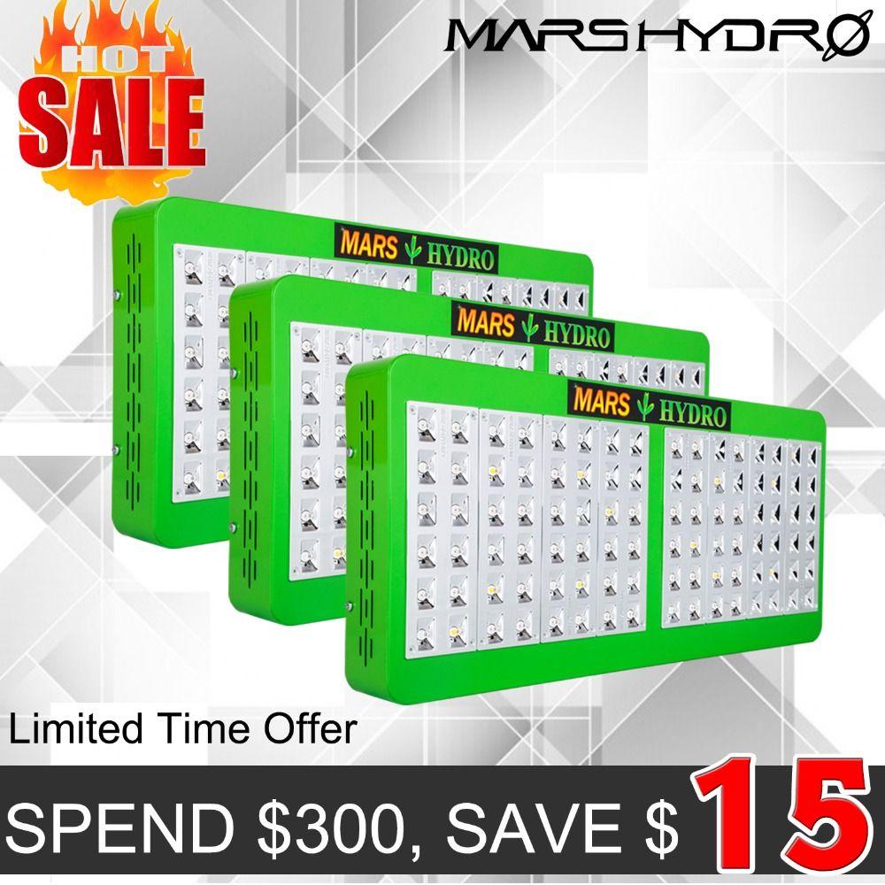 3PCS Mars Hydro Reflector 480W Full Spectrum LED Grow Light /Panel for Grow tent /Box