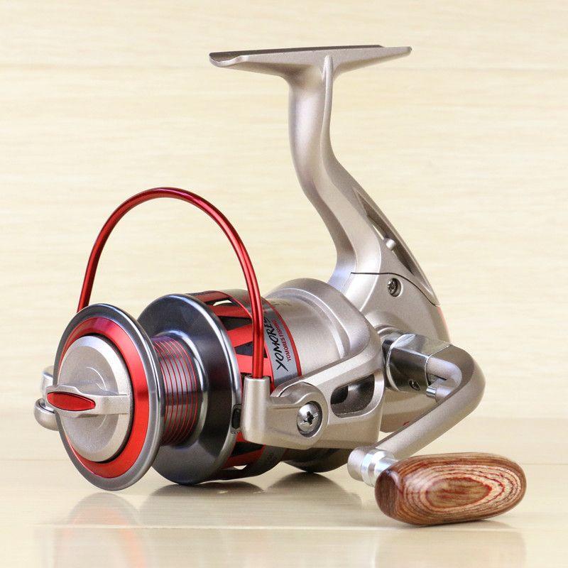 Metal Spinning Fishing Reel 1000-7000 Series Left / right rocker interchangeable 5.5:1 10BB + 1 Bearing Balls Fishing Wheel