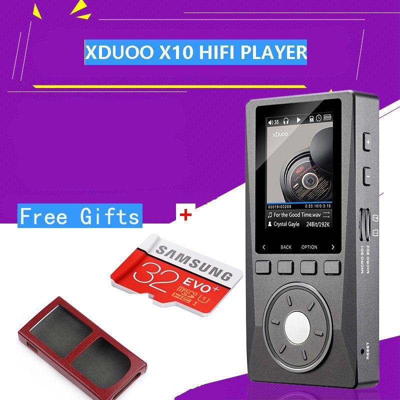 XDuoo X10 Portable High Resolution Lossless DSD Music HIFI Player DAP Support Optical Output Betterthan XDUOO X3 + Free(TF+case)