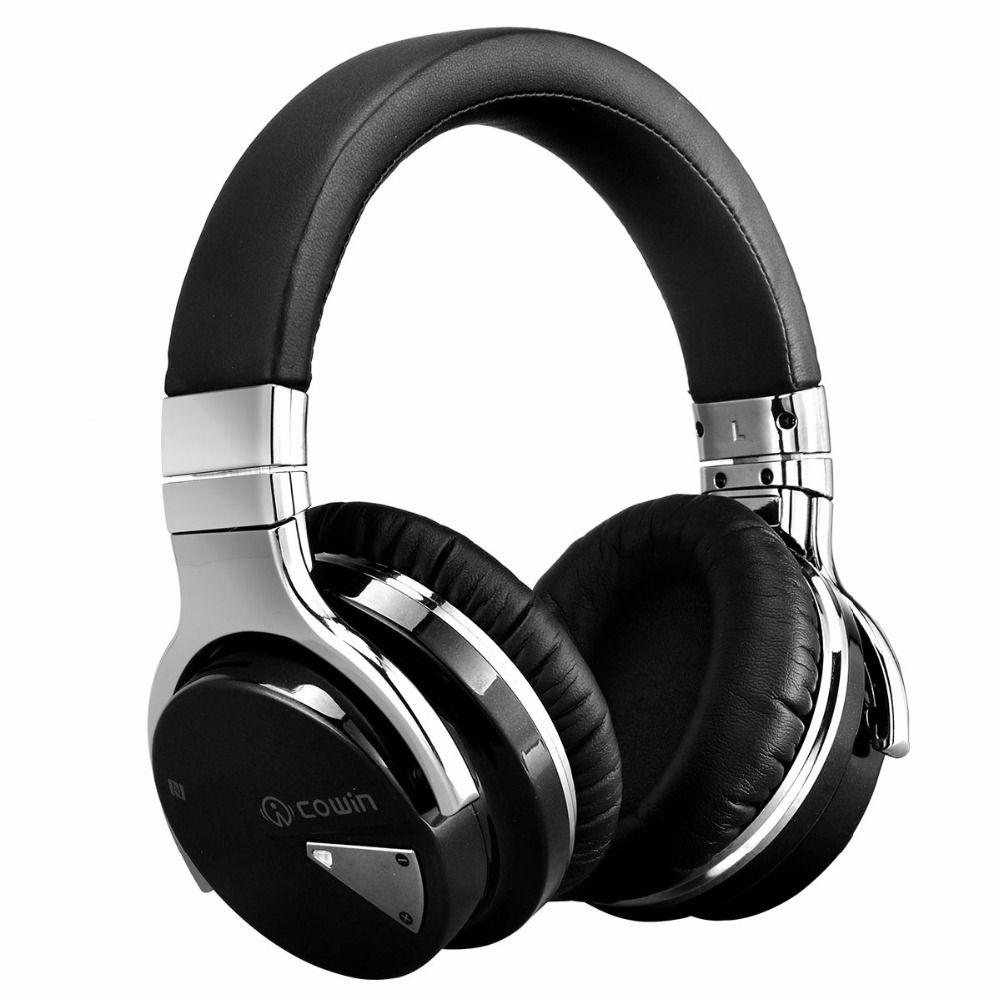 cowin E-7 bluetooth headphones wireless <font><b>headset</b></font> anc active noise cancelling headphone earphone over ear stereo deep bass casque