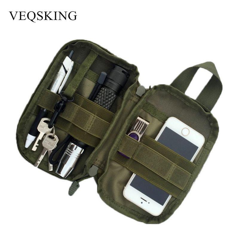 Molle Tactical Waist Belt Bag Outdoor Military Waist Fanny Pack Mobile Phone Key Tool EDC Bag  Sport Climbing Bag For Men Women