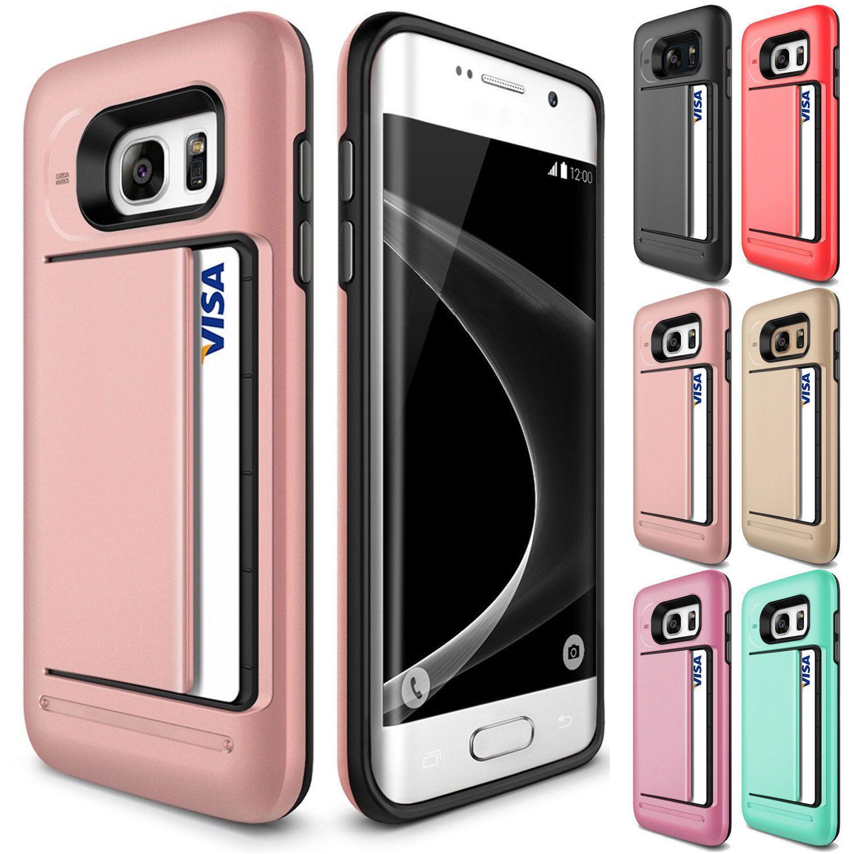 Фирменная Новинка чехол для samsung Galaxy S7 S6 край S8 плюс S5 S4 Примечание 8 5 4 Гибридный чехол противоударный карты бумажник протектор