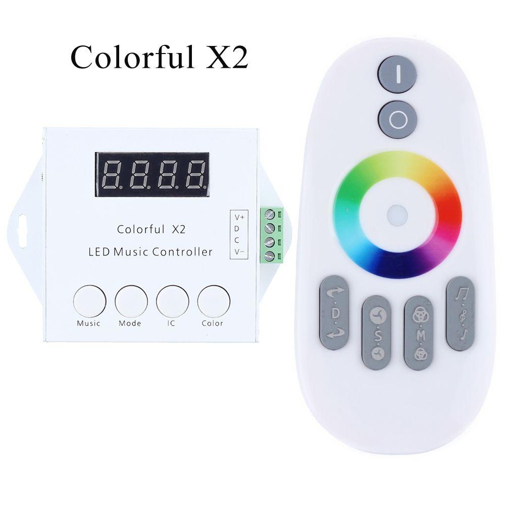 Contrôleur de musique numérique LED avec entrée de DC5V-24V à distance tactile RF WS2811/WS2812B/WS2813/USC1903 contrôle Max 600/1000 Pixels