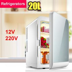 F-L20SA congelador portátil 20 l mini nevera refrigerador del hogar del coche un uso dual compacto 12/220 V coche nevera variaciones de temperatura